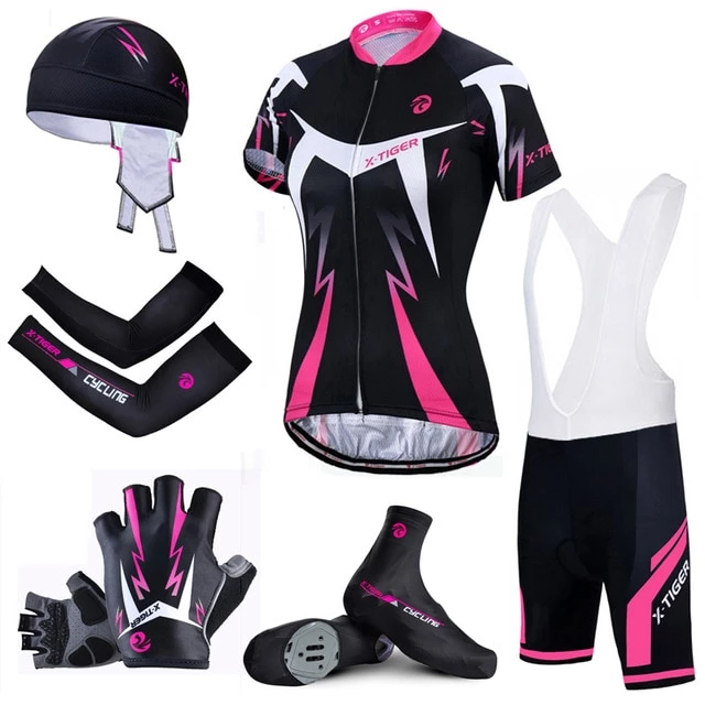 Top Quality Women Cycling Set Mountain Bicycle Cycling Clothing Summer Quick-Dry Cycling Jersey Breathable Bike Clothing