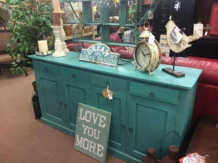 Turquoise Console/Cabinet/Buffet - Ken's Bargain Outlet ...