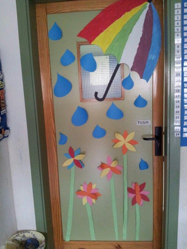 Primavera mi puerta decorar puertas colegio classroom for Decoracion de la puerta de entrada