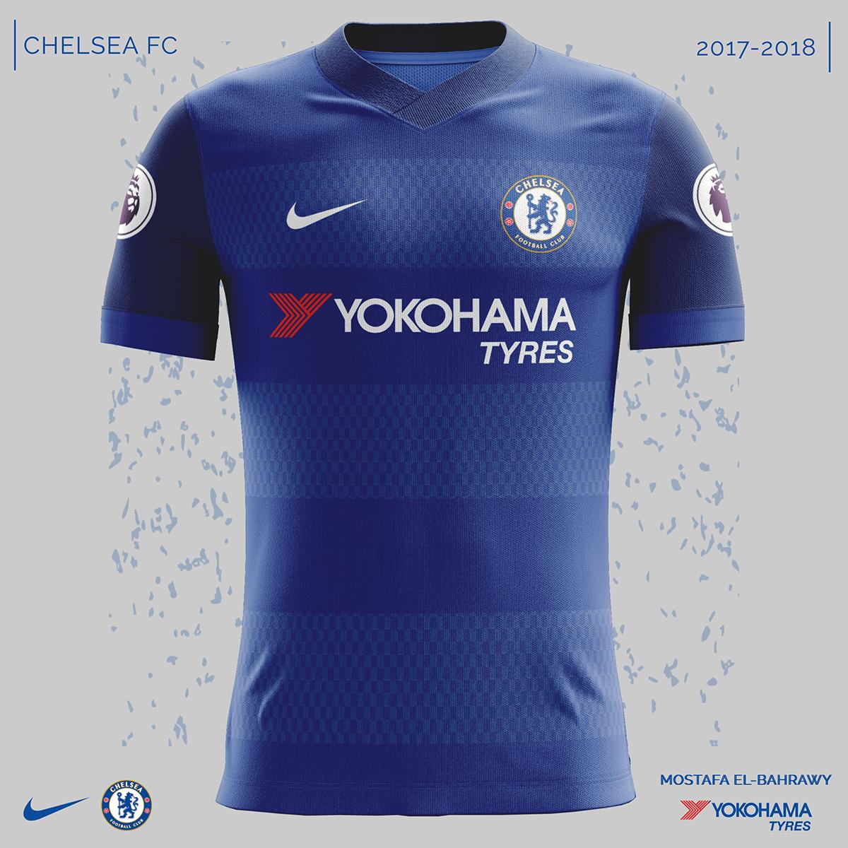 041bf13dbef Chelsea Nike Kits (2017-2018) on Behance