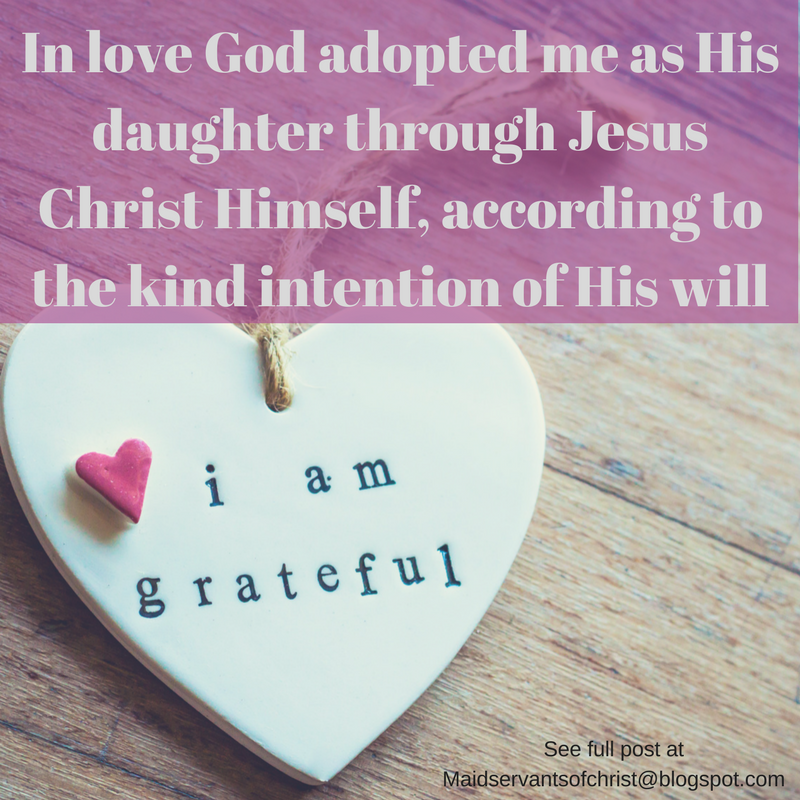 In love God adopted me!  Obeying my Father is not cold, legalistic or graceless. Loving and obeying Him are linked intrinsically in scripture.   Faith | Bible Study | Women of Action