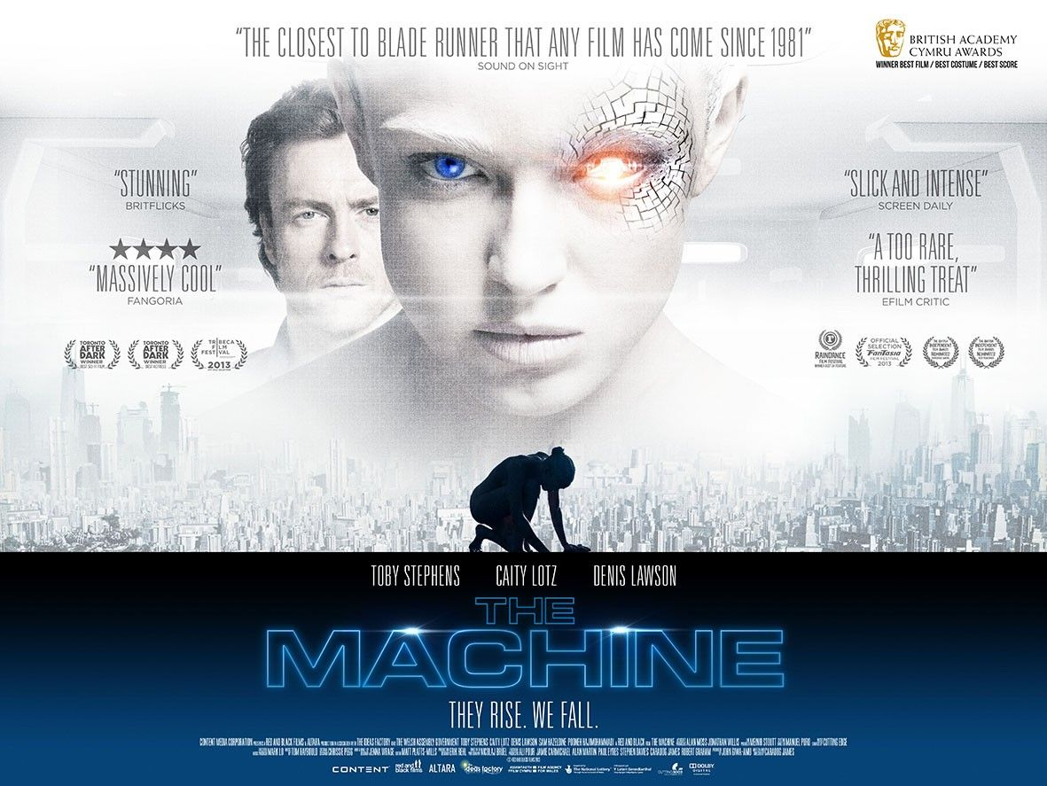 Extra Large Movie Poster Image For The Machine Movie Posters Upcoming Movie Trailers Film Books