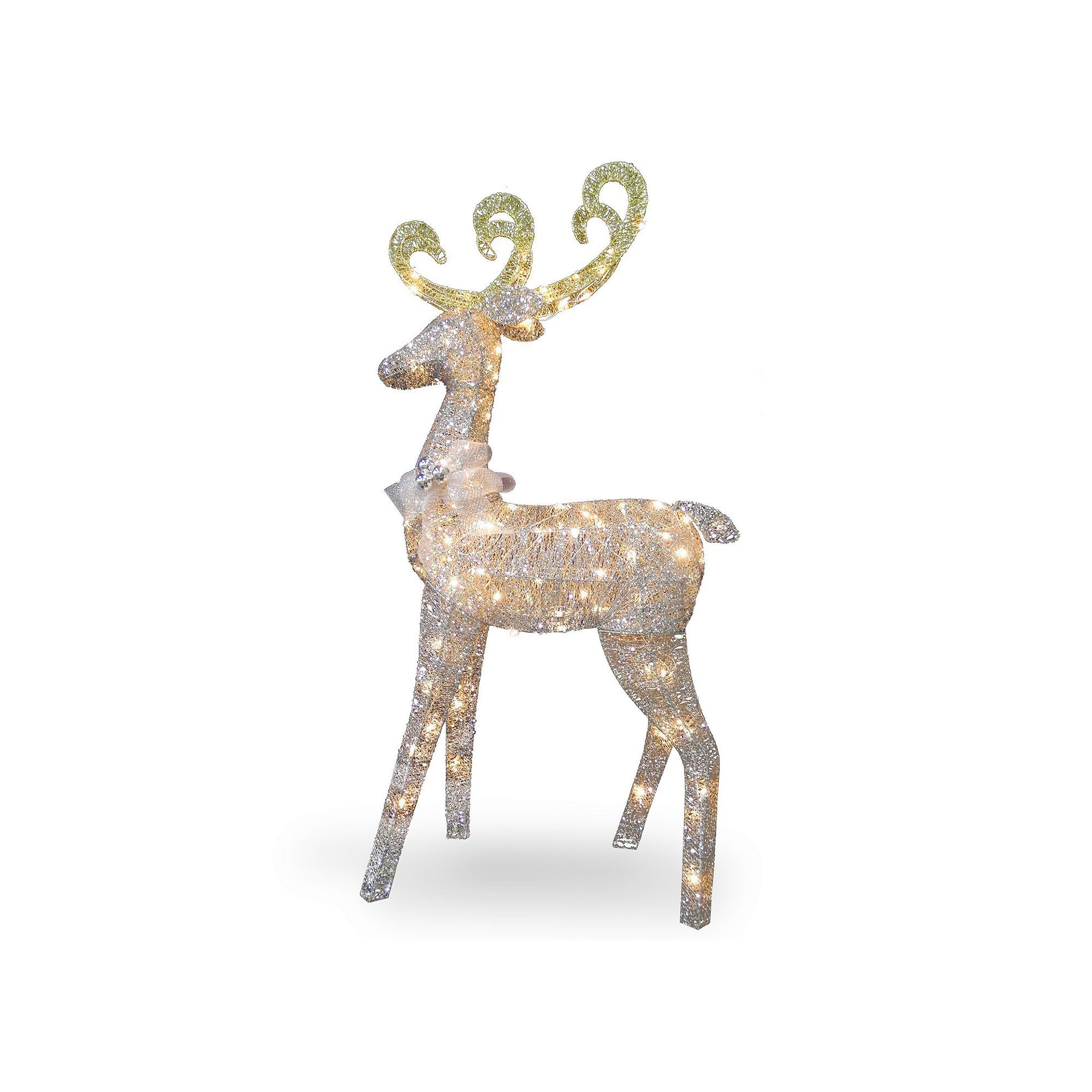 indoor deer statues outdoor national pre tree company in pin standing decor lit