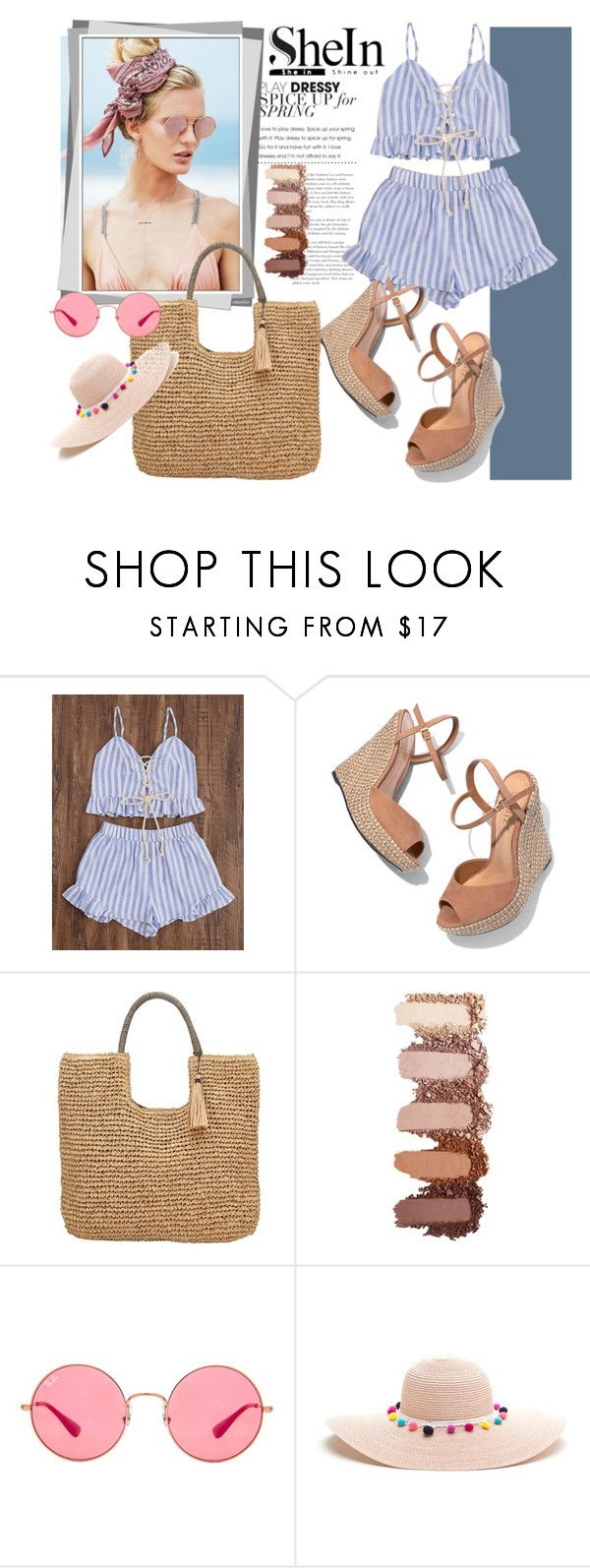 """""""Untitled #71"""" by nermina12 ❤ liked on Polyvore featuring Beach Riot, Schutz, John Lewis and Ray-Ban"""