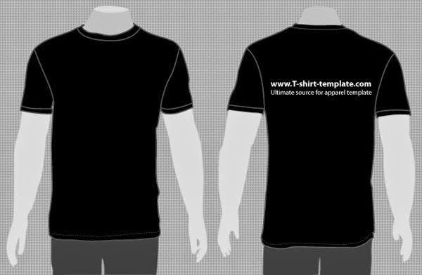 Download 40 Best Free T Shirt Mockup Templates Tinydesignr Plain Black T Shirt Shirt Template T Shirt