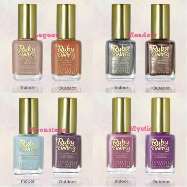 Color Club Ruby Wing Color Changing Nail Polishes Products I Love