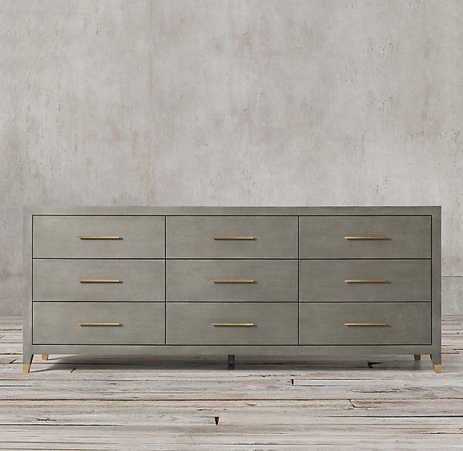 Graydon Shagreen 9 Drawer Dresser Dresser Drawers 9 Drawer Dresser Dresser