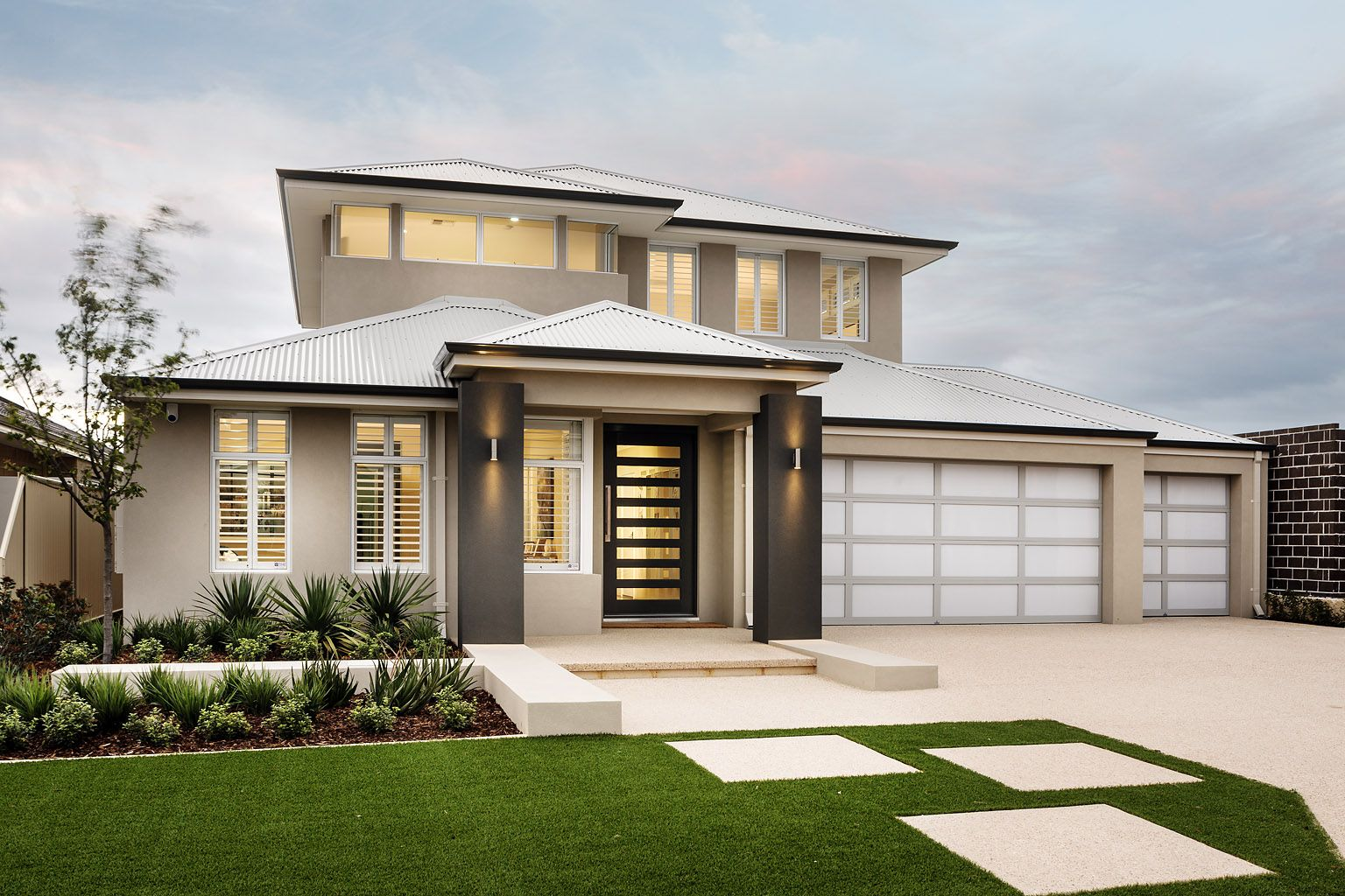 the appella ben trager homes perth display home modern facade elevation - Modern Display Homes