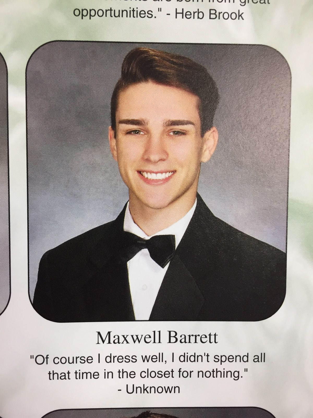 Senior Yearbook Quotes This Guy Made A Stunning Confession In His Senior Yearbook Quote .