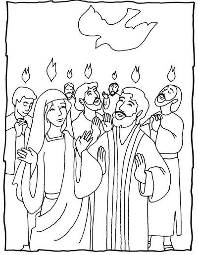 Pentecost christian coloring pages ~ children craft making pentecost - Google Search   Children ...