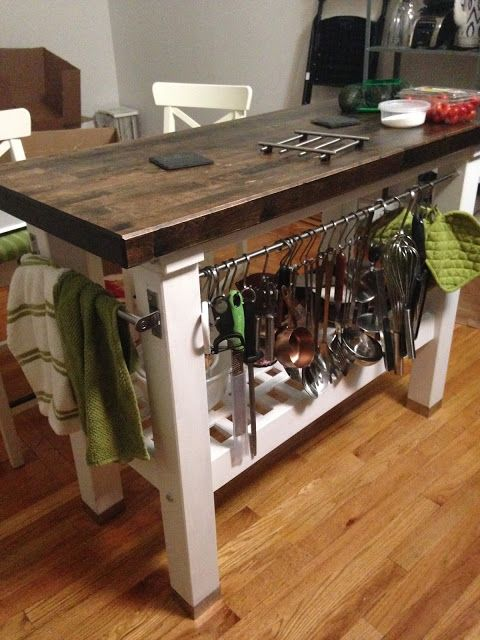 Bake and Baste: How to Stain and Finish a Rustic Kitchen Island ...