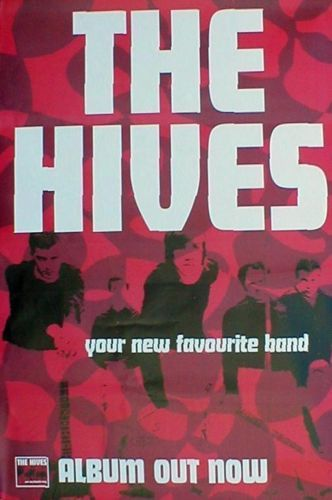 GIANT The Hives Your New Favorite Band Original Promotional Poster Print RARE