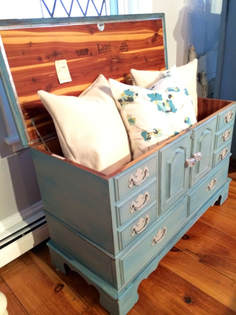 Lane cedar chest in coastal mix of blue and grey | Furniture ...