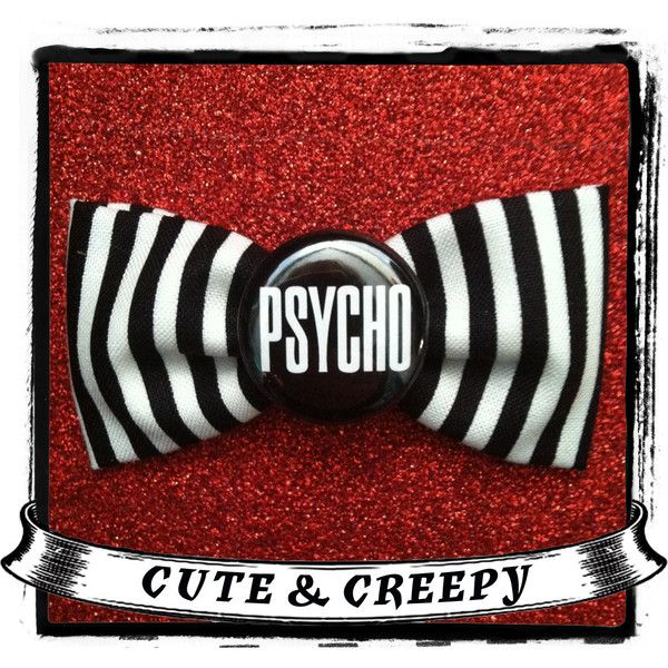 Psycho Hair Clip ($4.75) ❤ liked on Polyvore featuring accessories, hair accessories, alligator hair clips, hair bow accessories, barrette hair clips, bow hair clip and hair clip accessories