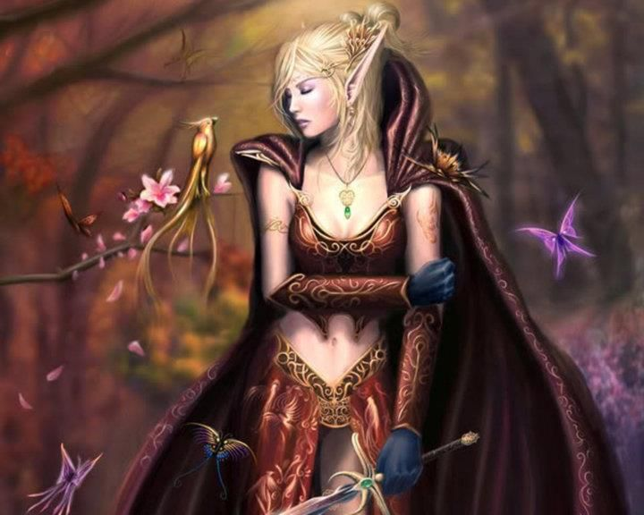 Elf Warrior And Princess Fantasy Art