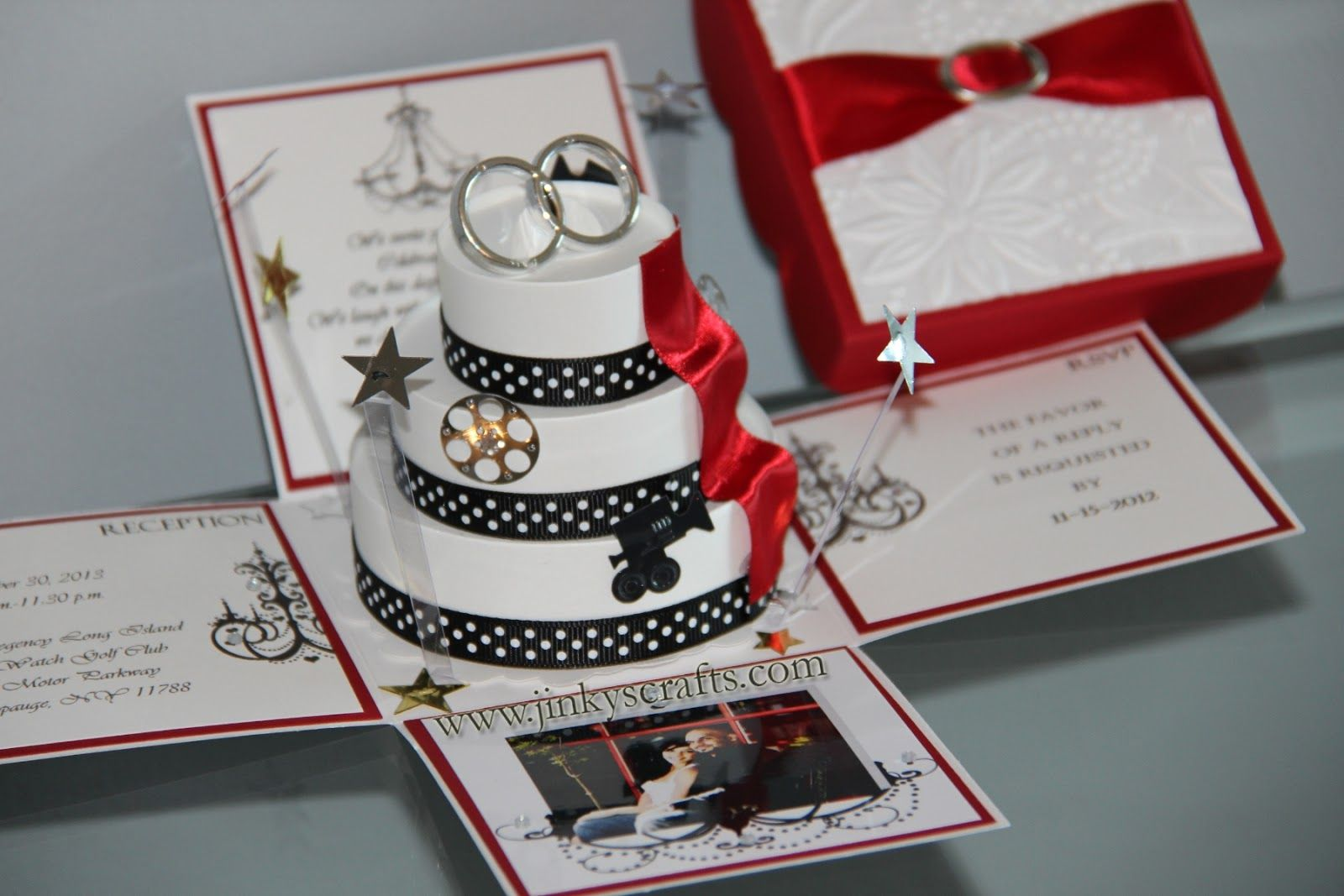 The 4 panels are lovingly adorned with Wedding Invitation Wordings ...