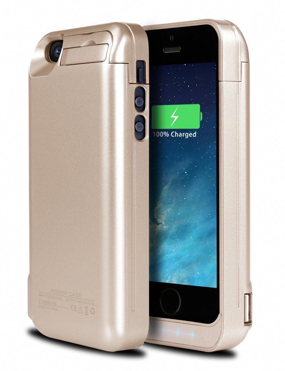 new arrival 85445 53645 Amazon.com: iPhone 5S Battery Case, Ecpow 4200mAh Rechargeable ...