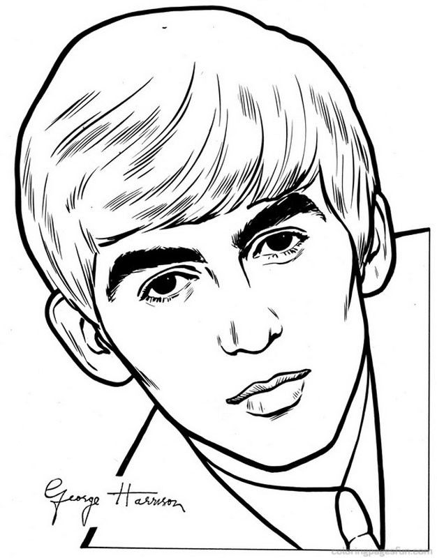 Y Beatles Colouring Pages Page 2 Beatles Drawing The Beatles Beatles Art