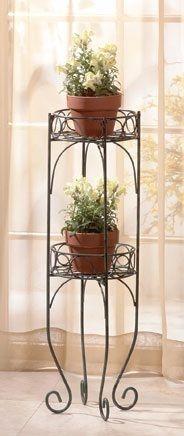Plant Stand 2 Tier Metal Rack Flower Pot Holder Under 30