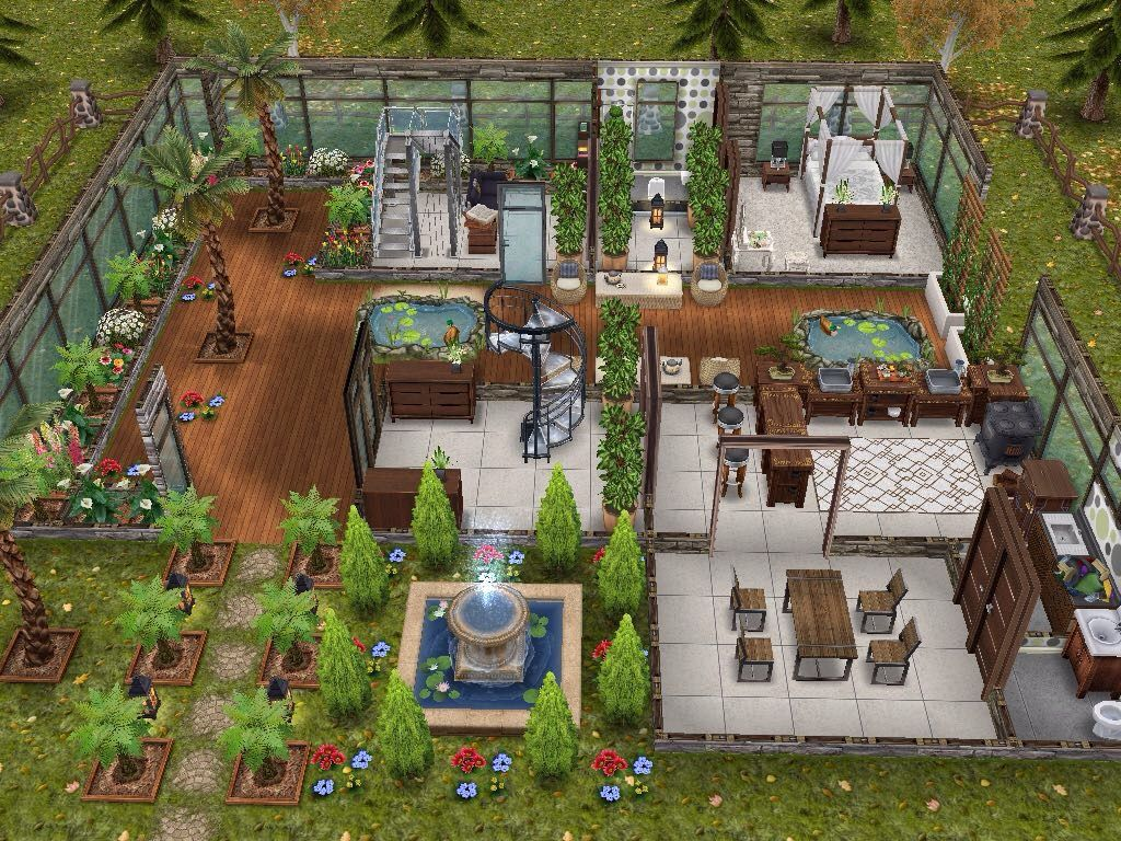 House 58 ground level #sims #simsfreeplay #simshousedesign ...