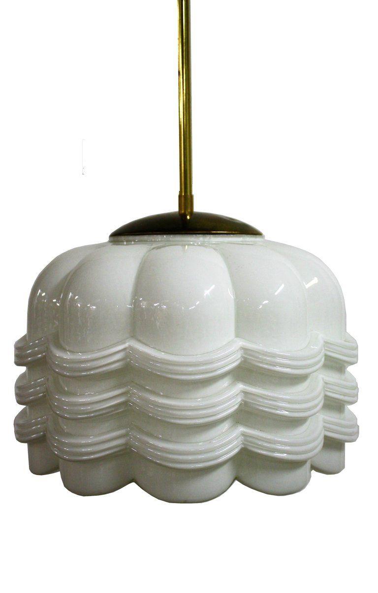 Art deco hallway lights  Art Deco Opaline Pendant Light Floral Design s  Furniture