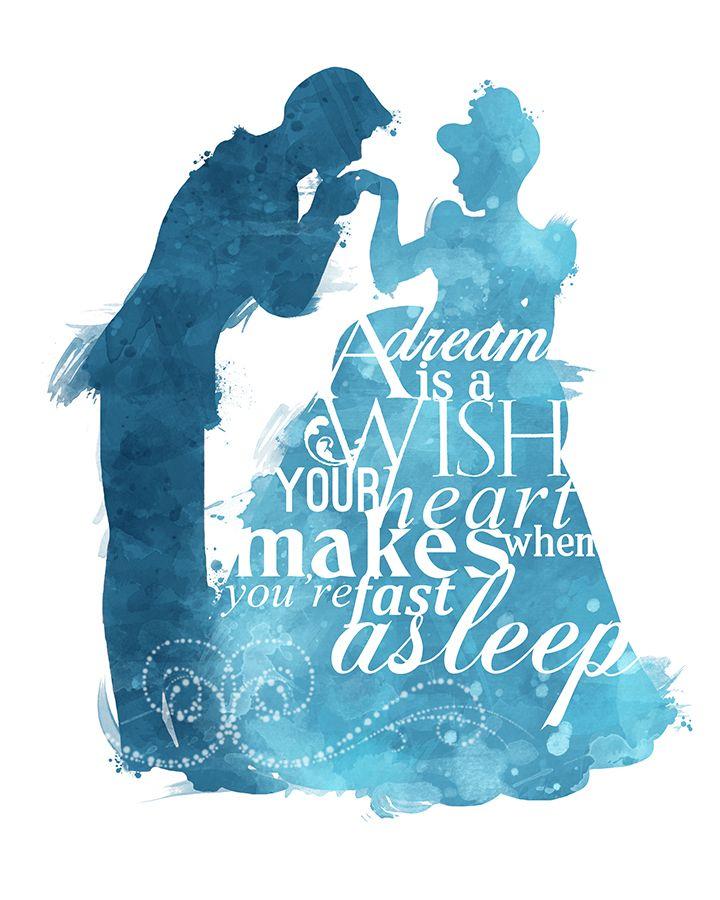 A Dream is a Wish Cinderella 8x10 Poster DIGITAL