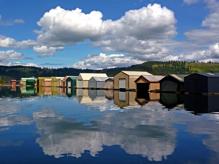 Chatcolet Boathouses At Heyburn State Park In Plummer Id