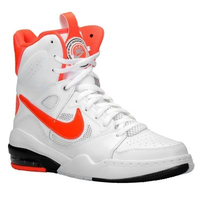 half off 68d5a bd89e Adidasi Baschet Nike Air Ascension Force High Dama Albi cu Rosii Ieftini