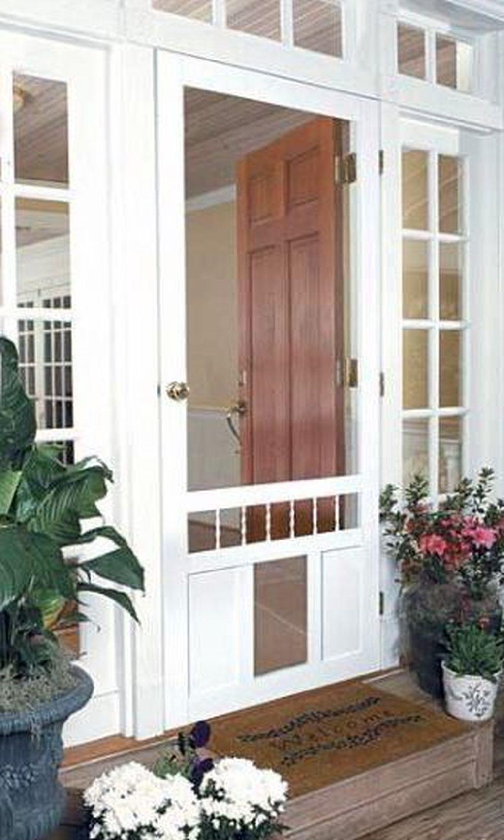 diy screen door with dog door