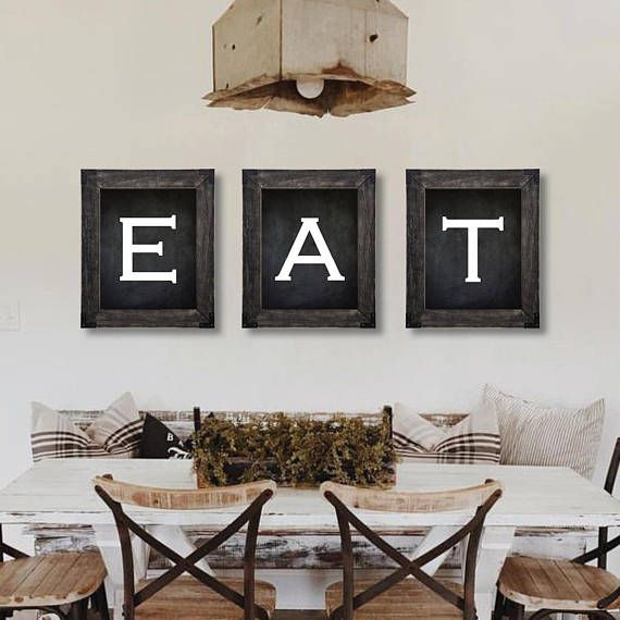 Farmhouse Decor. Eat Sign. Dining Room Wall Art. Farmhouse ...
