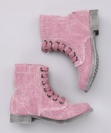 Take a look at this Pink Stitch Boot by Launch on #zulily today!