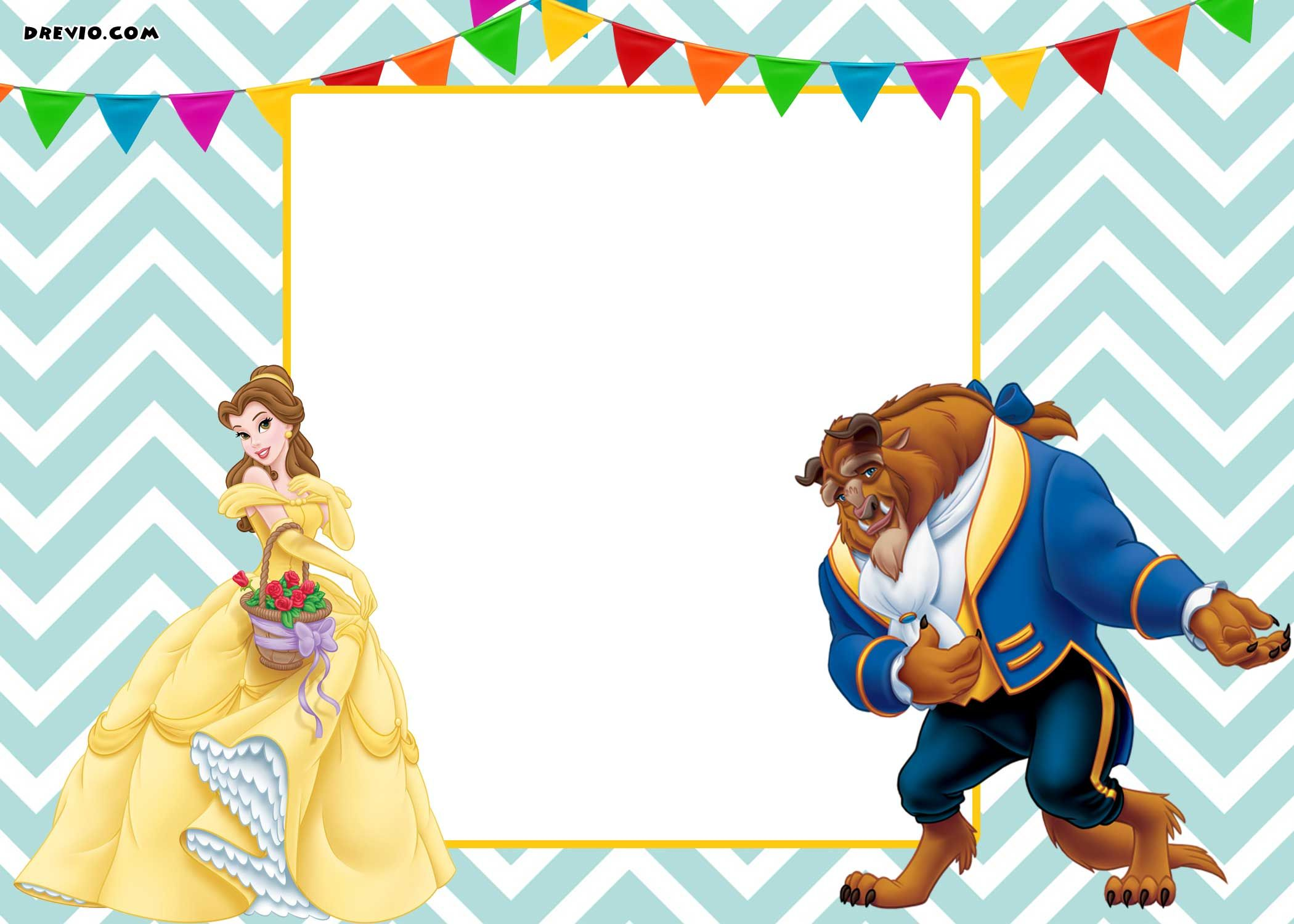 image relating to Free Printable Beauty and the Beast Birthday Invitations identify Absolutely free Printable Elegance and the Beast Royal Invitation