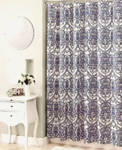 French Blue Toile Shower Curtain Bath Bathroom Accessories Shower Curtains Hooks Liners Shower Curtains Cotton Shower Curtain Curtains Country Blue