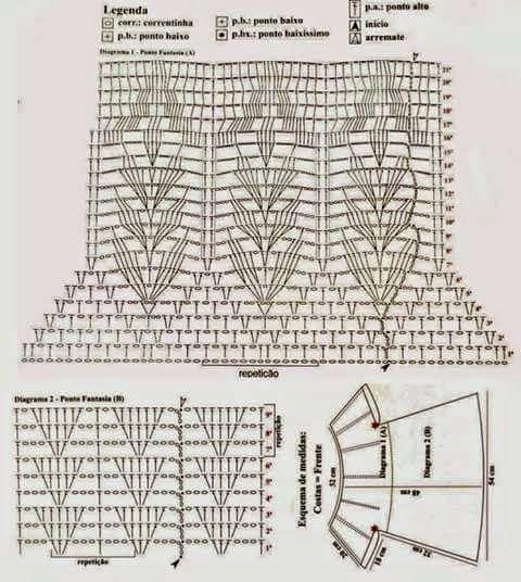 Cantinho da Jana: Gráfico de blusa de crochê