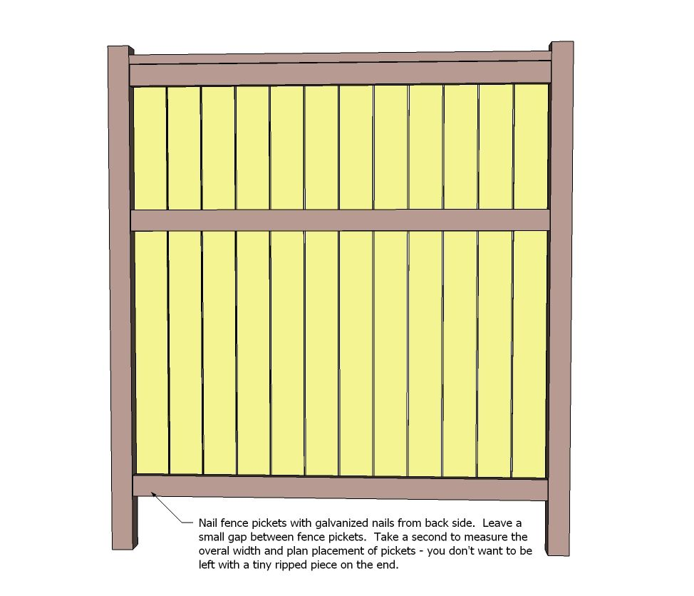 Ana white build a cedar fence free and easy diy for Free greene and greene furniture plans
