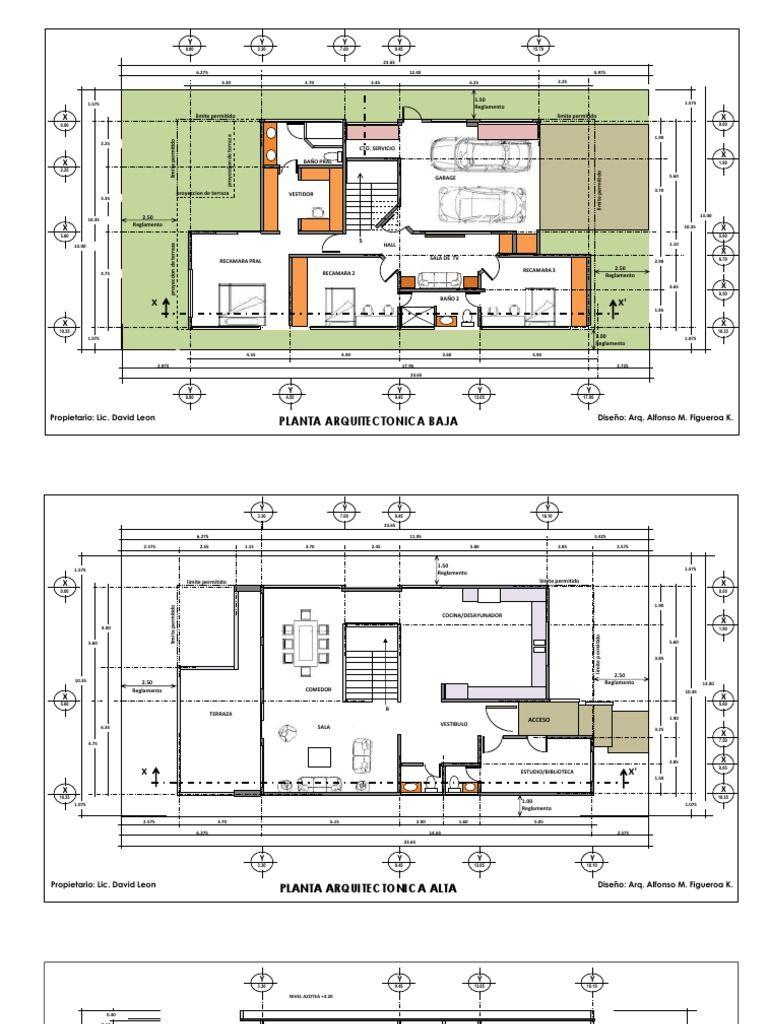 Planos Casa Habitacion 2 Niveles Download As Pdf File Pdf Text File Txt Or Read Online Casa Habitacion Plano De Arquitecto Casas