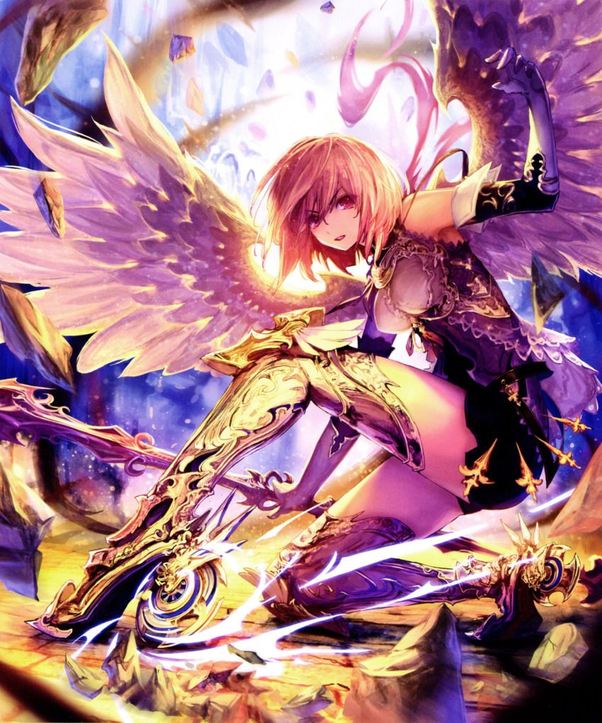 1girl absurdres bare shoulders boots elbow gloves gloves greaves high heel boots high heels highres looking at anime warrior anime art beautiful anime fantasy
