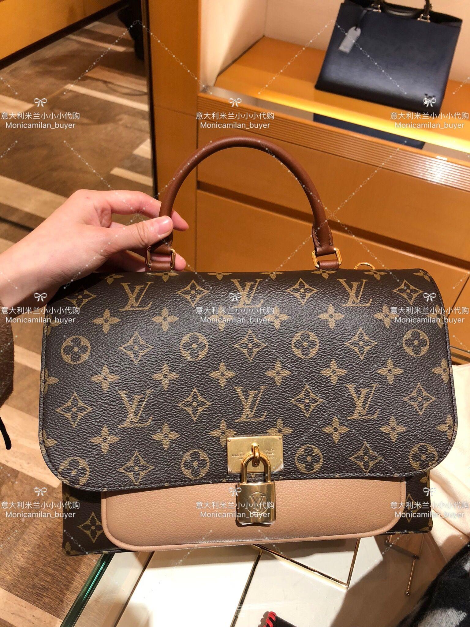 Louis Vuitton Marignan Handbag Monogram Canvas With Leather hhnOAxXXy