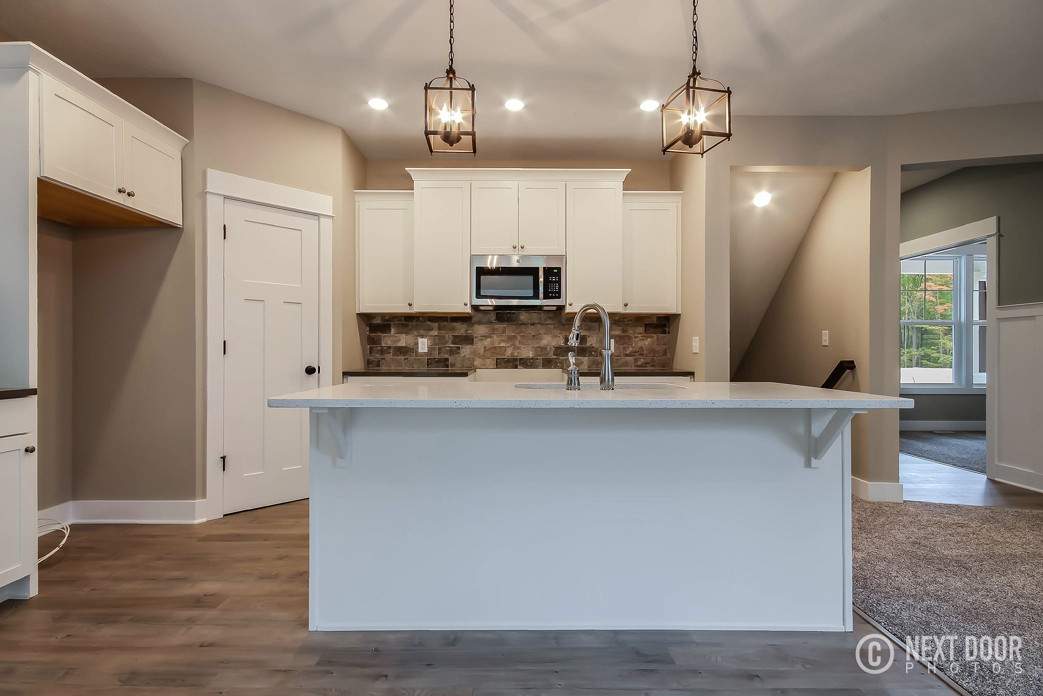 Lovely White Kitchen Island in our Stockton Home