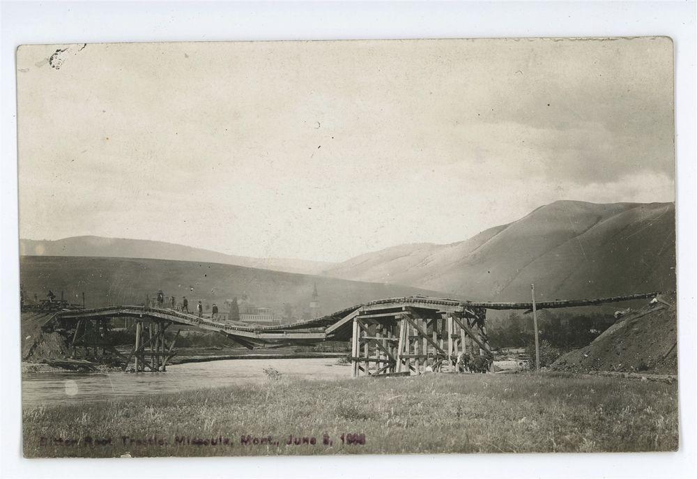 RPPC Bitterroot Railroad Trestle MISSOULA MT Montana 1908
