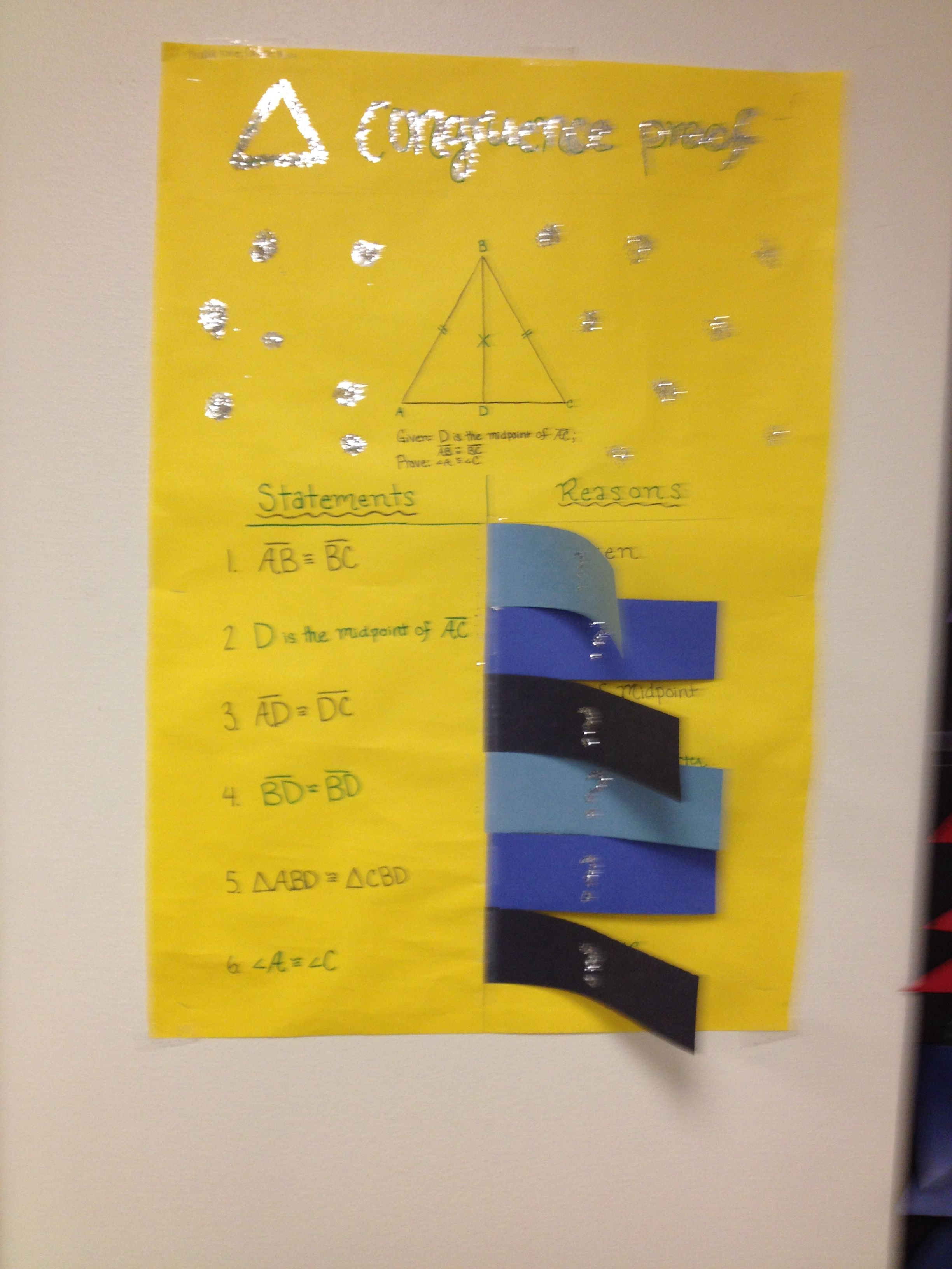 Great review! Congruent triangles. Maybe have students
