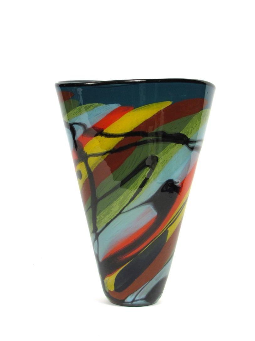 Ioan nemtoi rare glass vase large blown glass art signed ioan nemtoi rare glass vase large blown glass art signed european artwork reviewsmspy