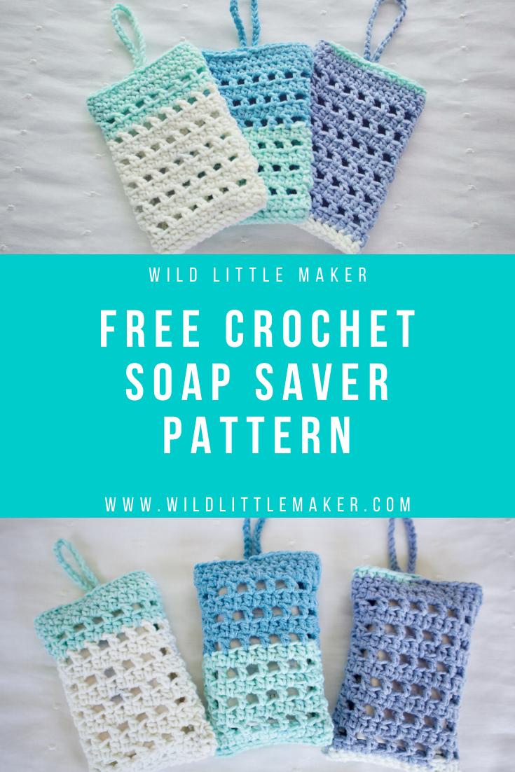 Free Crochet Soap Saver Pattern by Wild Little Maker in ...