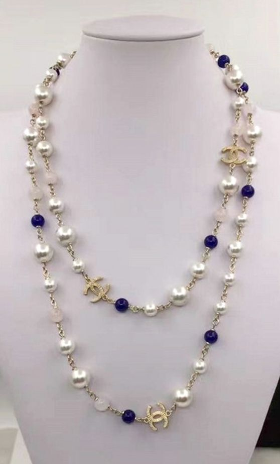 Translucence Purple with three strings necklace
