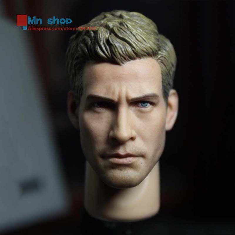 Custom 1//6 Scale Jake Gyllenhaal Head Sculpt For Hot Toys Narrow Shoulder Body