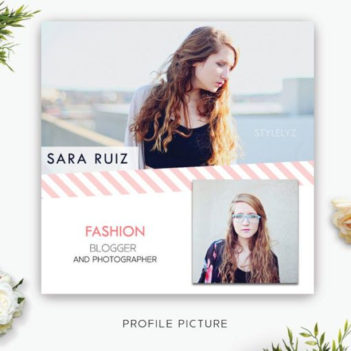 $3 Profile Picture Template + Free Customization Stylelyz - free profile templates