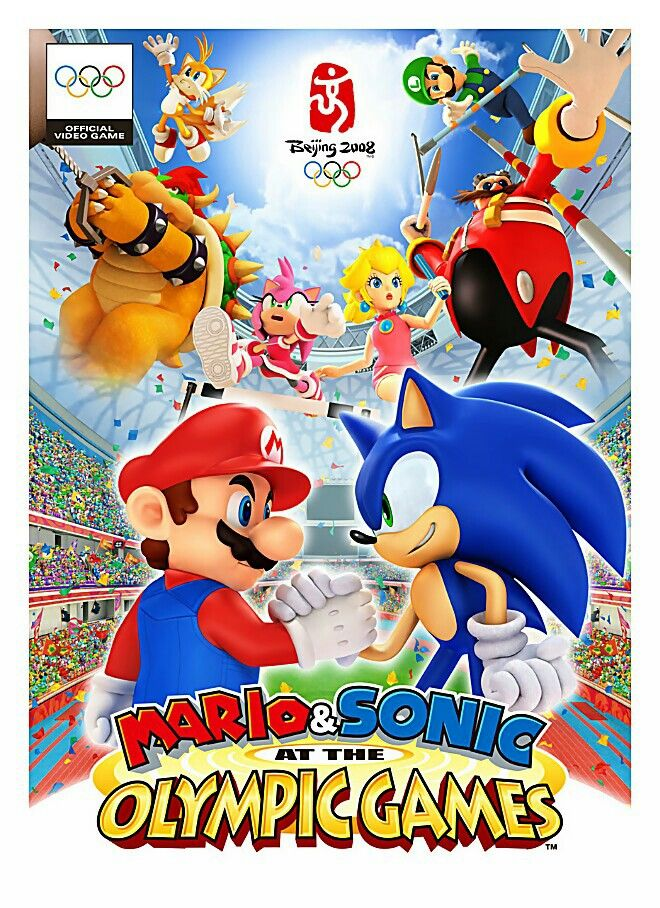 Box Artwork Characters Art Mario Sonic At The Olympic Games Jpg Sonic Super Mario Art Olympic Games