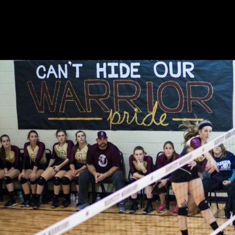 Gym Signs Banners Sports Banner Volleyball Basketball Football Soccer School High Team Athletics Athlete Spirit