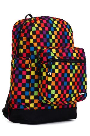 Checkered Backpack in Multicolor - beyondtherack.com