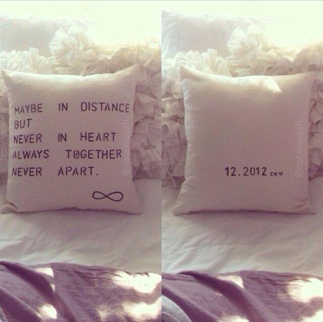 DIY idea gift for him. Cute & simple stenciled pillow! -Natalia x ...